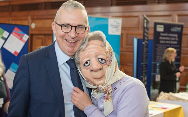 Joy and Jeremy Hughes CEO of Alzheimers society