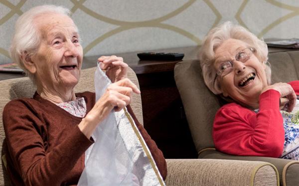 two laughing ladies
