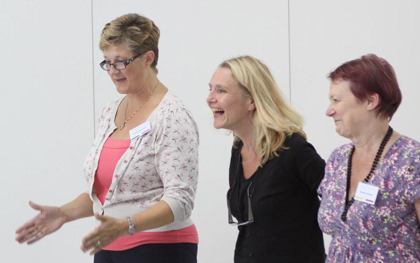 Participants laughing