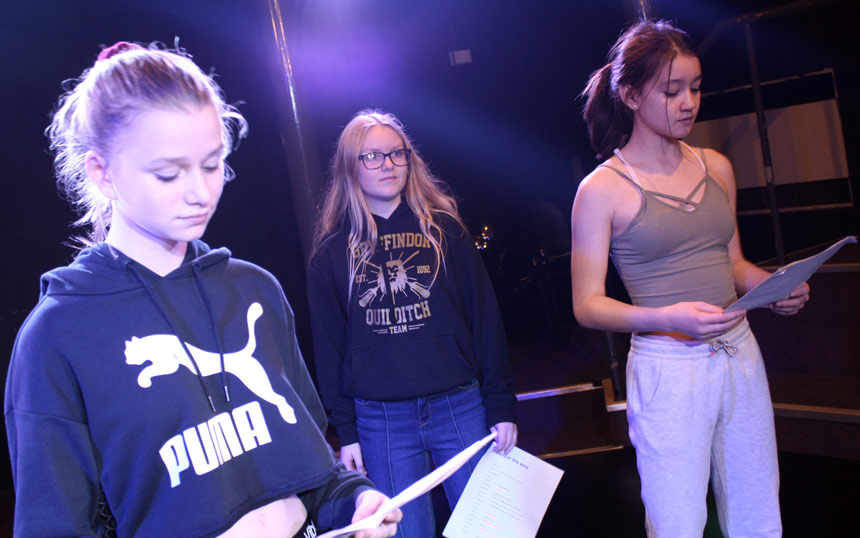 VYT members reading scripts