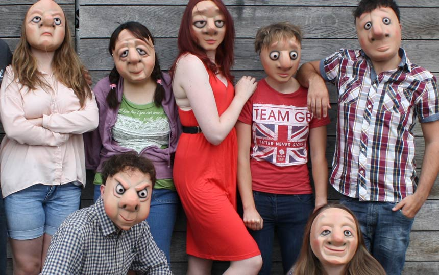 Group of VYT members in mask