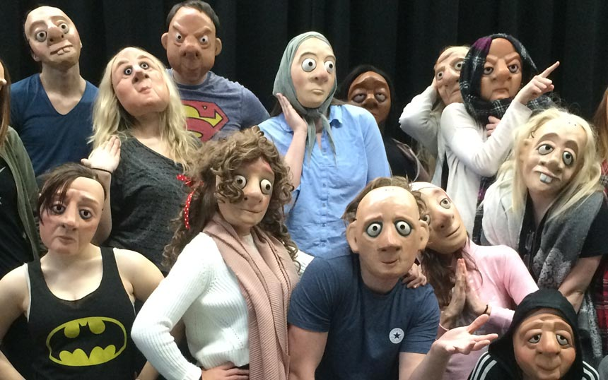 Students from Wolves Uni in mask
