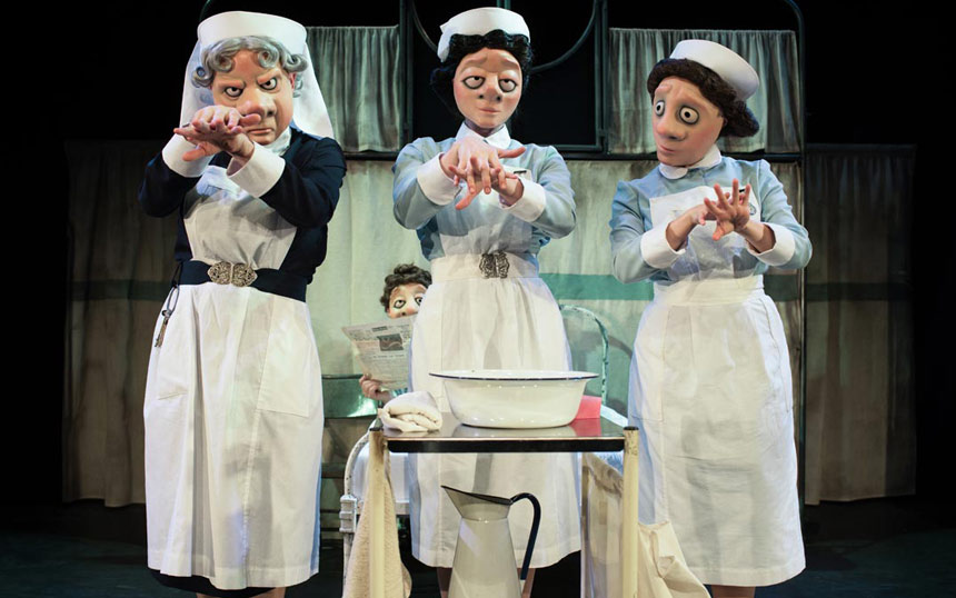 three nurses washing their hands