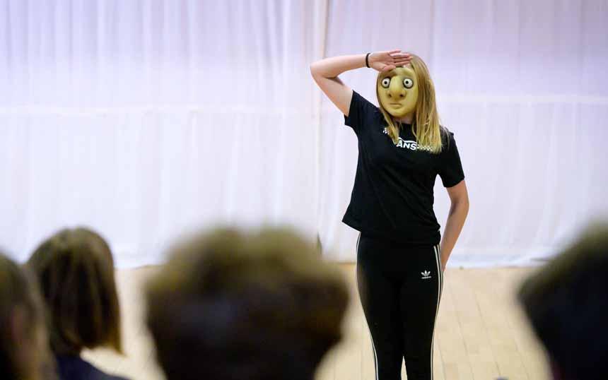 mask character salutes