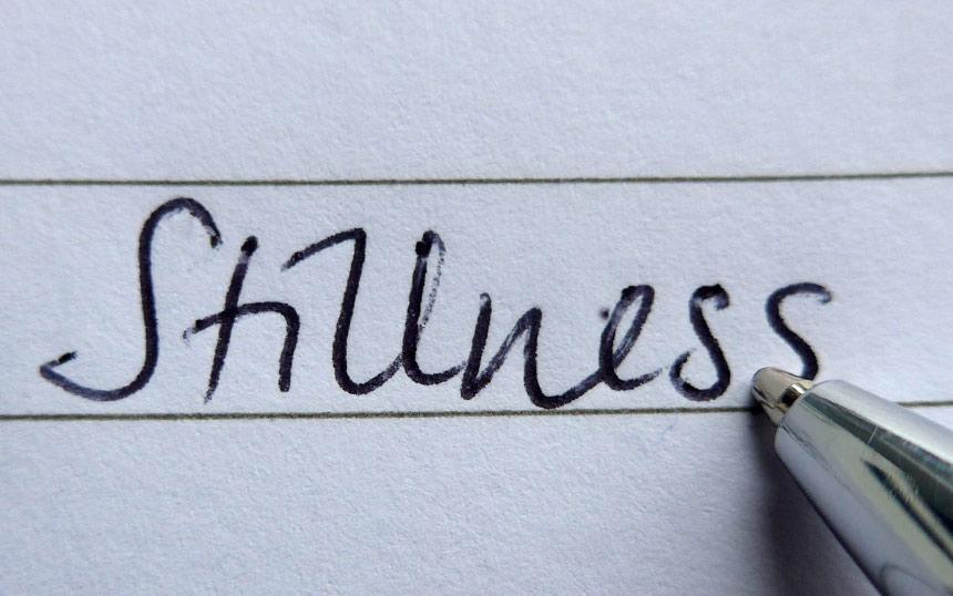 The word Stillness