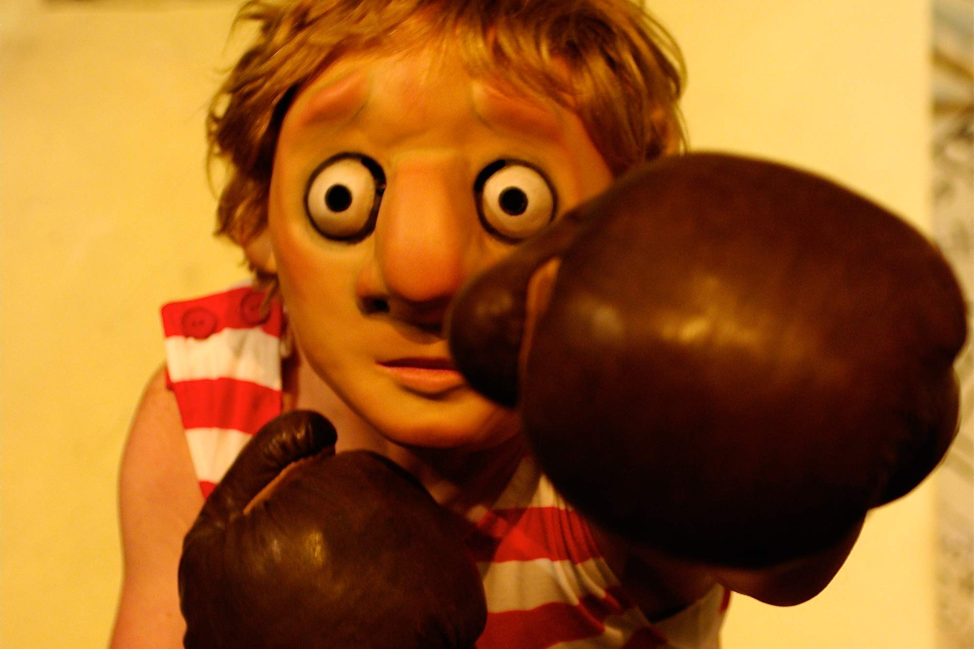 Eddie Sankey learns to box